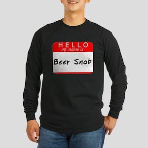 Beer Snob Long Sleeve Dark T-Shirt