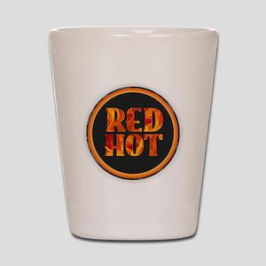 Red Hot Shot Glass