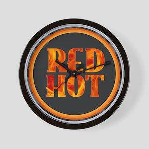 Red Hot Wall Clock