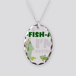 Funny retirement Necklace Oval Charm