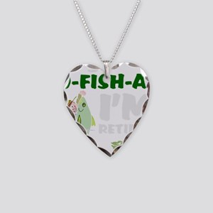Funny retirement Necklace Heart Charm