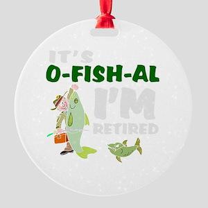 Funny retirement Round Ornament