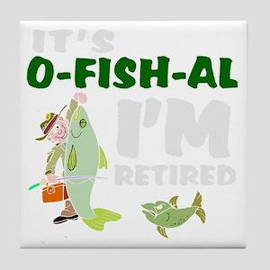 Funny retirement Tile Coaster