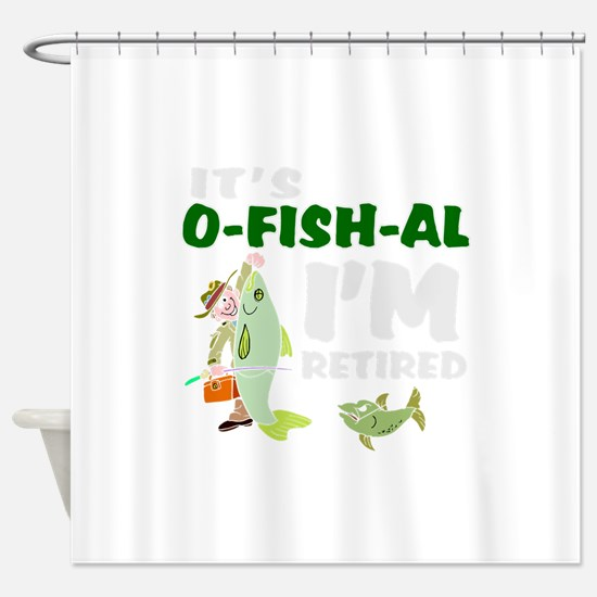 Funny retirement Shower Curtain