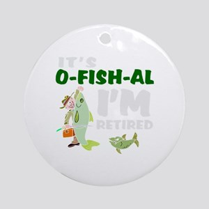 Funny retirement Round Ornament