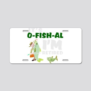 Funny retirement Aluminum License Plate