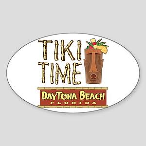 Daytona Beach Tiki - Oval Sticker