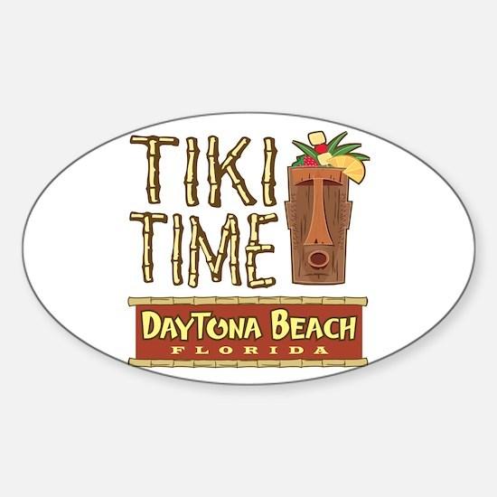 Daytona Beach Tiki - Oval Decal