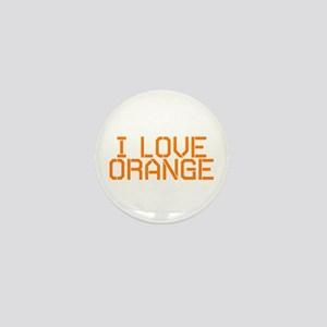 I LOVE ORANGE Mini Button