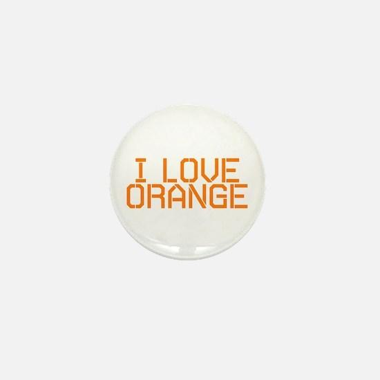 I LOVE ORANGE Mini Button