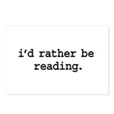 i'd rather be reading. Postcards (Package of 8)