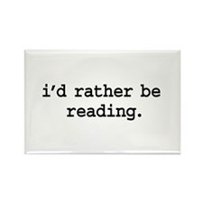 i'd rather be reading. Rectangle Magnet (100 pack)