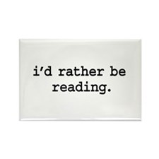 i'd rather be reading. Rectangle Magnet (10 pack)
