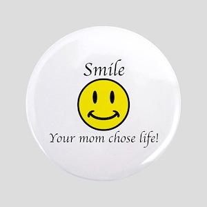 "Smile Jesus 3.5"" Button"