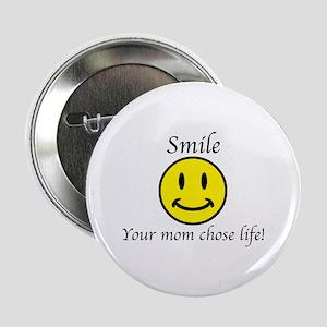 "Smile Jesus 2.25"" Button"