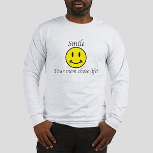 Smile Jesus Long Sleeve T-Shirt