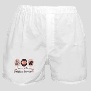 Peace Love Belgian Tervuren Boxer Shorts