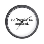 i'd rather be sedated. Wall Clock