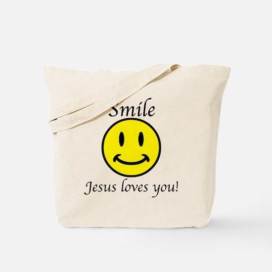 Smile Jesus Tote Bag