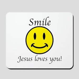 Smile Jesus Mousepad