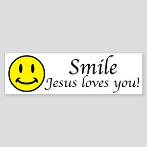Smile Jesus Sticker (Bumper)