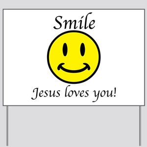 Smile Jesus Yard Sign
