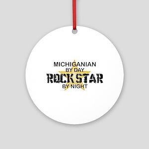 Michiganian Rock Star Ornament (Round)