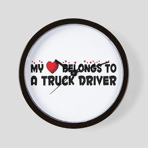 Belongs To A Truck Driver Wall Clock