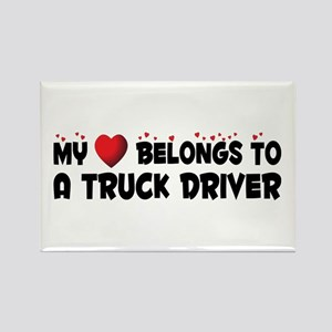 Belongs To A Truck Driver Rectangle Magnet