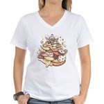 Cookie Lover Women's V-Neck T-Shirt