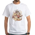 Cookie Lover White T-Shirt Mountain of Cookies Art