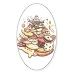 Cookie Lover Sticker Oval Cookie Mountain art