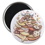 Cookie Lover Magnet Mountain of Cookies Art Magnet