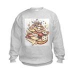 Cookie Lover Kids Sweatshirt Cookie Monster Art