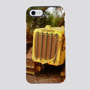 vintage yellow tractor,grill iPhone 8/7 Tough Case