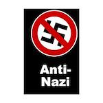 Anti-Nazi Mini Poster Print