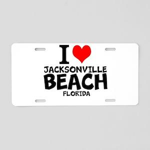 I Love Jacksonville Beach, Florida Aluminum Licens