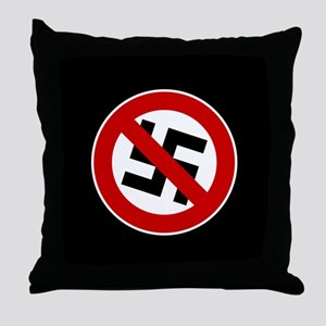 Anti-Nazi Throw Pillow