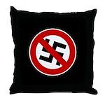 Anti-Nazi Throw Pillow