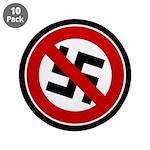 "Anti-Nazi 3.5"" Button (10 pack)"
