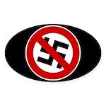 Anti-Nazi Oval Sticker