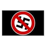 Anti-Nazi Rectangle Sticker