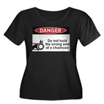 Danger. Do not hold the wrong Women's Plus Size Sc