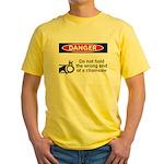 Danger. Do not hold the wrong Yellow T-Shirt