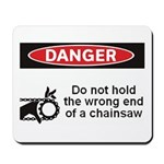 Danger. Do not hold the wrong Mousepad