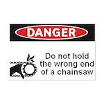 Danger. Do not hold the wrong Mini Poster Print