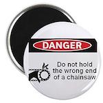 Danger. Do not hold the wrong Magnet