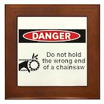 Danger. Do not hold the wrong Framed Tile