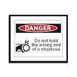 Danger. Do not hold the wrong Framed Panel Print