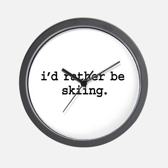 i'd rather be skiing. Wall Clock